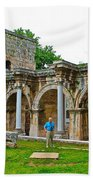 Hadrian's Gate In Antalya-turkey Bath Towel