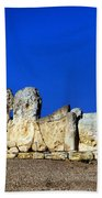Hagar Qim Stone Temple, Malta Bath Towel