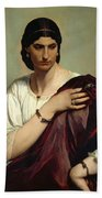 Half-length Portrait Of A Roman Woman Hand Towel