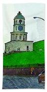 Halifax Historic Town Clock Bath Towel