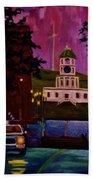 Halifax Night Patrol And Town Clock Hand Towel
