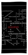 Halifax Nova Scotia Crosswords Red Bath Towel