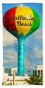 Hallandale Beach Water Tower Bath Towel