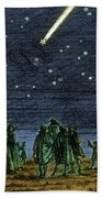 Halleys Comet 1682 Bath Towel