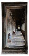 Hallway At Angkor Wat Bath Towel
