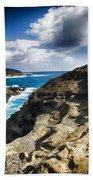 Halona Blowhole Lookout- Oahu Hawaii V2 Bath Towel