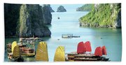 Halong Bay Sails 01 Bath Towel
