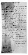 Hamilton: Letter, 1777 Bath Towel