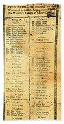 Handbill: Casualties, 1775 Bath Towel