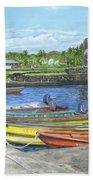 Hanga Roa Harbour Bath Towel