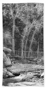 Hanging Bridge In Black And White Bath Towel