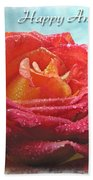 Happy Anniversary Rose Bath Towel
