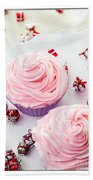 Happy Birthday Cupcakes Bath Towel