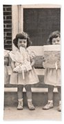 Happy Birthday Retro Photograph Bath Towel