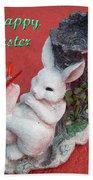 Happy Easter Card 5 Bath Towel
