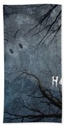 Happy Halloween - Ghost In Trees Bath Towel