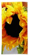 Happy Sunflowers Bath Towel