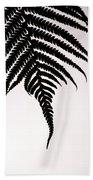 Hapu'u Frond Leaf Silhouette Bath Towel
