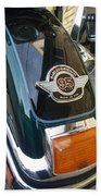 Harley Close-up Tail Light Hand Towel