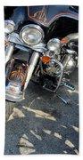 Harley Close-up W Shadow 1 Bath Towel