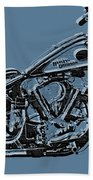 Harley-davidson And Words Bath Towel