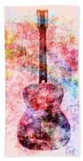 Harmony Guitar Notes Bath Towel
