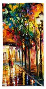 Harmony - Palette Knife Oil Painting On Canvas By Leonid Afremov Bath Towel