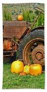 Harvest Tractor Bath Towel