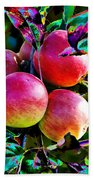 Harvesting Apples Bath Towel
