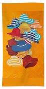 Hats Off Bath Towel by Deborah Boyd