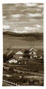 Hatton Ranch Carmel Valley From Highway One California  1940 Bath Towel