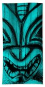 Hawaiian Aquamarine Mask Bath Towel