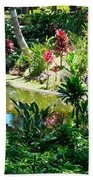 Hawaiian Cultural Garden Honolulu Airport Bath Towel