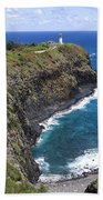 Hawaiian Lighthouse Bath Towel