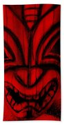 Hawaiian Red Mask Bath Towel