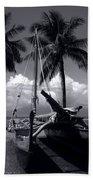 Hawaiian Sailing Canoe Maui Hawaii Bath Towel