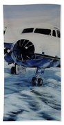 Hawker - Airplane On Ice Bath Towel