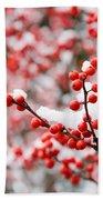 Hawthorn Berries Bath Towel