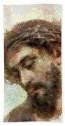 The Head Of Christ Bath Towel