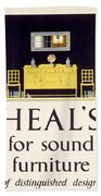 Heals Sound Furniture Advertisement Bath Towel