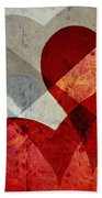 Hearts 8 Square Hand Towel