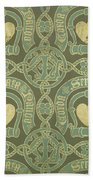 Heart Motif Ecclesiastical Wallpaper Bath Towel