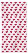 Heart Patterns Bath Towel