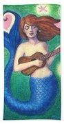 Heart Tail Mermaid Bath Towel