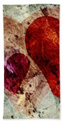 Hearts 10 Square Hand Towel
