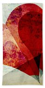 Hearts 5 Square Hand Towel