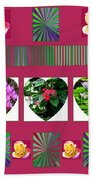 Hearts And Flowers 2 Hand Towel