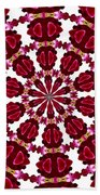 Hearts And Orchids Kaleidoscope Bath Towel