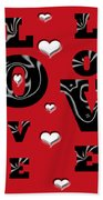 Hearts Of Love Bath Towel