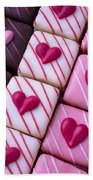 Hearts On Candy Hand Towel